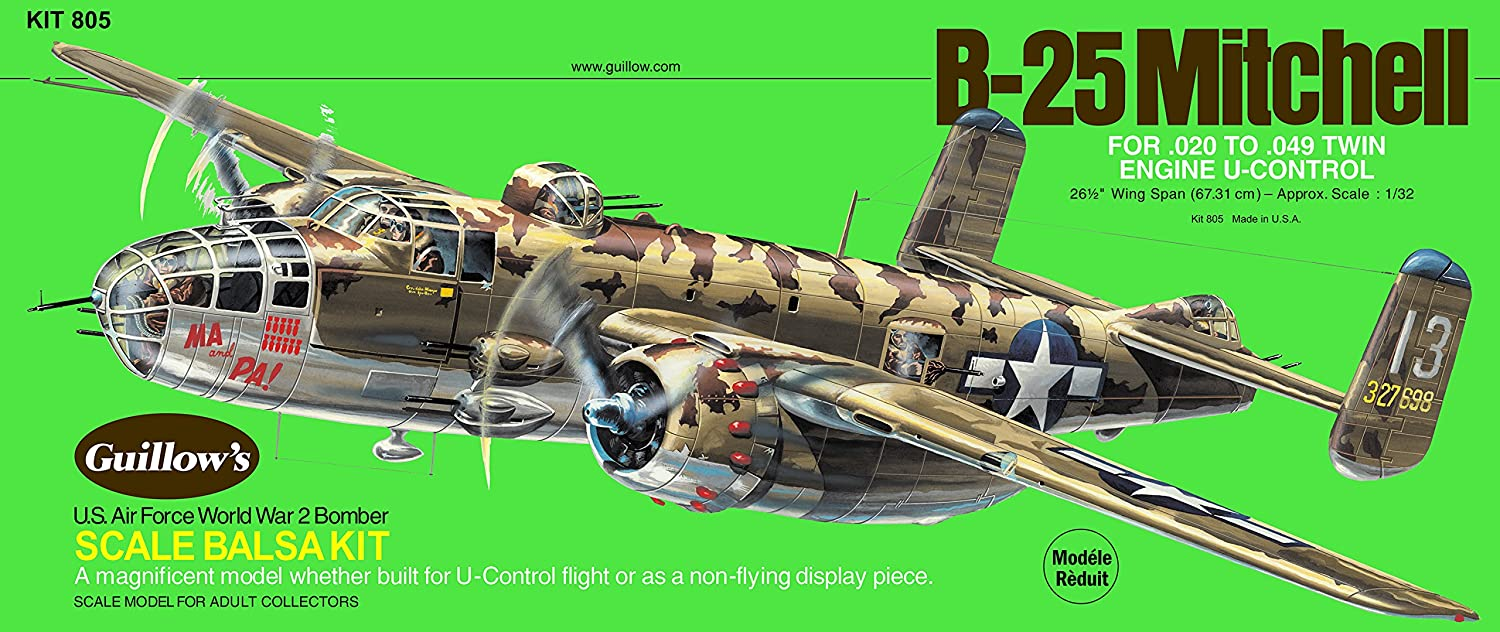 Guillow's North American B-25 Mitchell Model Kit