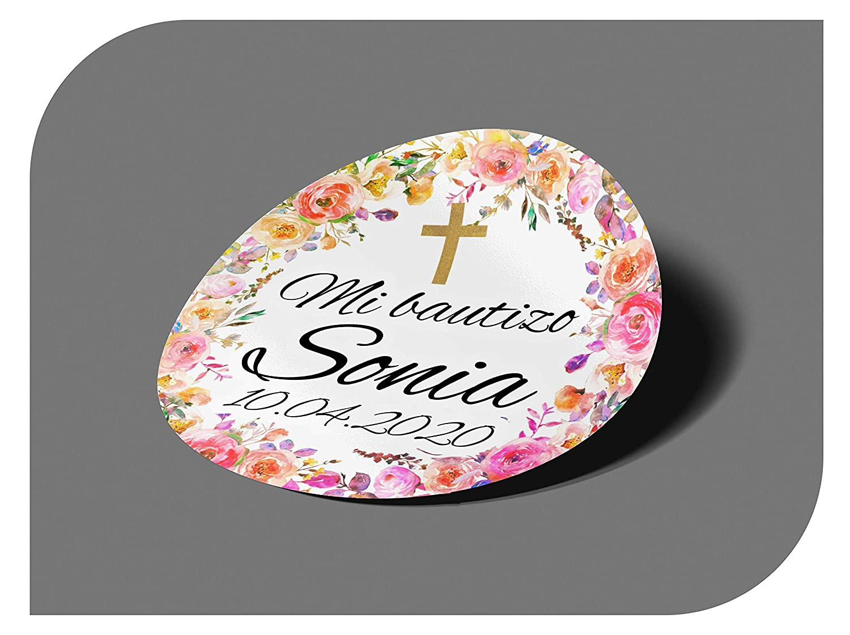 Compleanno con Nome e Data Vintage Fidanzamento per invito Festa Adesivi Personalizzati per Comunione o Battesimo CrisPhy Matrimonio