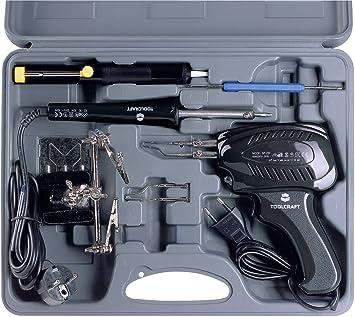 TOOLCRAFT Kit Soldador 230 V 100 W SK 3000 Punta de Soldadura niquelado Soldador a Pistola, Puerta Capacitivo, Tercera: Amazon.es: Electrónica