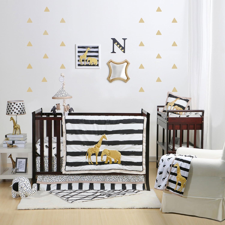 Amazon Safari 5 Piece Baby Crib Bedding Set with Bumper by The