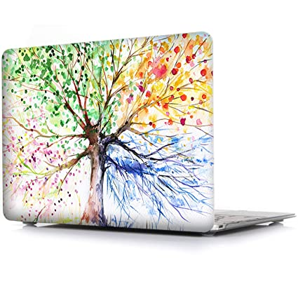 best service 701c2 263bc iCasso MacBook Air 11 inch Case Rubber Coated Soft Touch Hard Shell  Protective Cover for MacBook Air 11 Inch Model A1370/A1465 (Four Seasons  Tree)