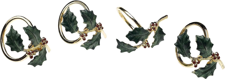 Lenox Holiday Napkin Rings, Set of 4