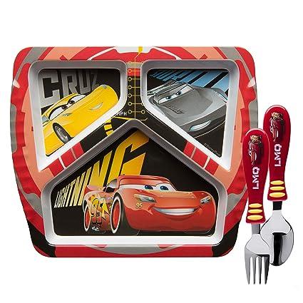 Amazon Com Zak Designs Disney Cars 3 Kids Dinnerware Sets Plate
