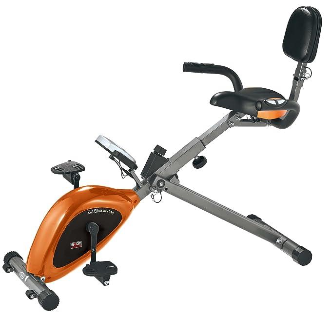 Body Sculpture EZ mit - Elíptica de fitness (100 kg, plegable, imán, magnético), color naranja/gris / negro: Amazon.es: Deportes y aire libre