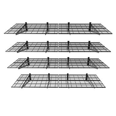 FLEXIMOUNTS 2-Pack Wall Shelf Garage Storage Rack Wall Mounted Floating Shelves