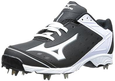 Mizuno Usa Mens Men's 9-Spike ADV Swagger Baseball Cleat,Black/White,