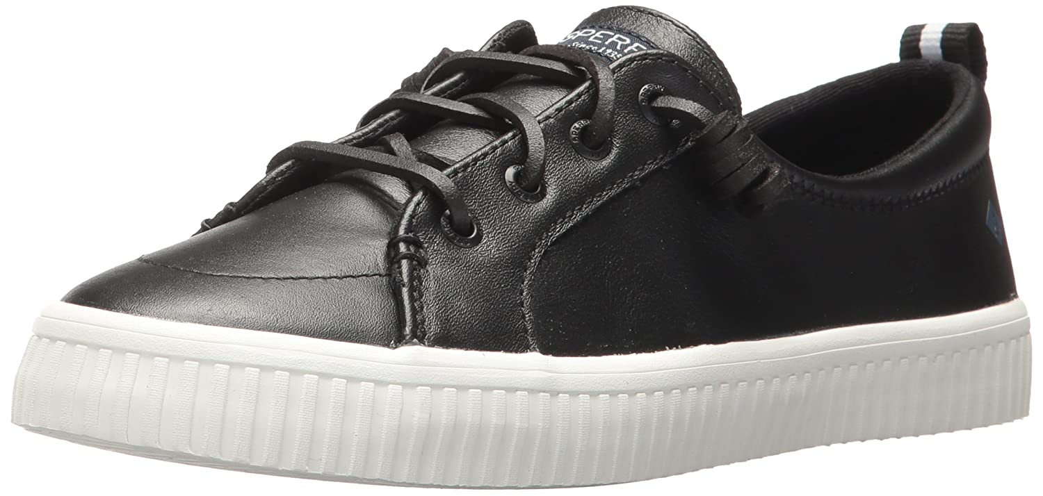 Sperry Top-Sider Women's Crest Vibe Creeper Leather Sneaker B06XV2JX6H 10 M US|Black