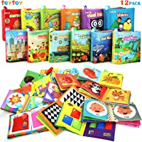 My First Soft Book,TEYTOY Nontoxic Fabric Baby Cloth Activity Crinkle Soft Books...