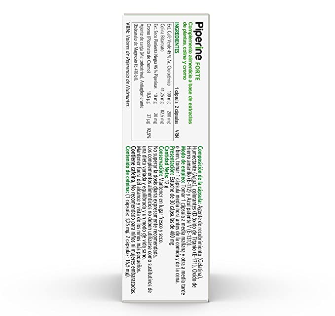 Vive+ Piperina Forte, Suplemento Alimenticio - 3 Paquetes de 30 Cápsulas: Amazon.es: Salud y cuidado personal