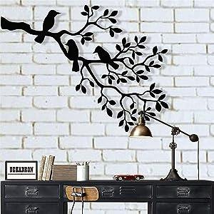 Metal Wall Art, Metal Birds Art, Metal Wall Decor, Birds on Branch, Birds Sculpture, Unusual Gift, Housewarming Gift, Interior Decoration (18