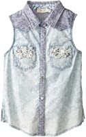 Miss Me Big Girls' Sleeveless Denim Top