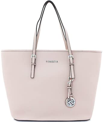 Shopper Tasche Handtasche Rosa Rose Tom & Eva Schultertasche