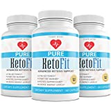 (3 Pack) Pure Keto Fit Pro Pills, Premium Keto Diet Pills Supplement for Energy, Focus - Exogenous Ketones for Rapid…