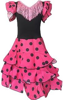 Vestido flamenco para niña rojo: Amazon.es: Ropa y accesorios