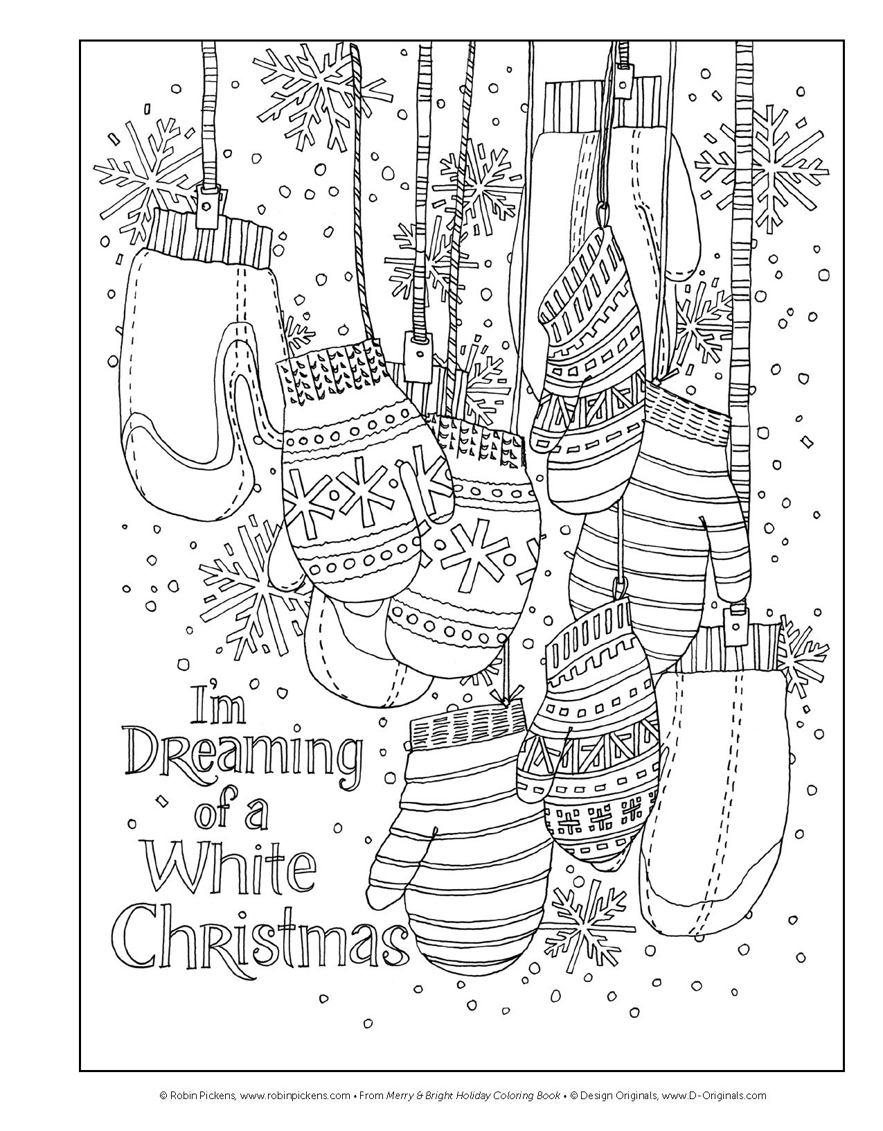 Amazon.com: Merry & Bright Holiday Coloring Book (Design Originals ...