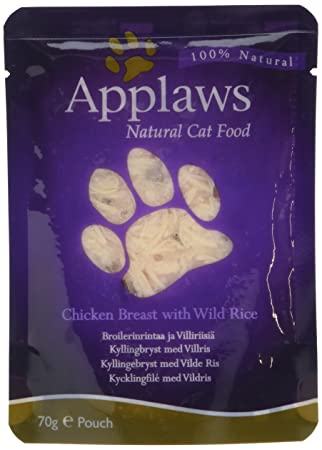 applaws cat pouch 70g chicken with wild rice amazon co uk pet supplies