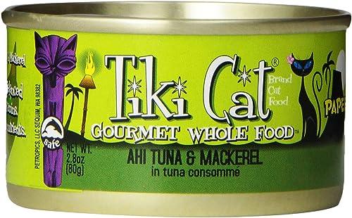 Tiki Cat 759029 12-Pack Papeekeo Tuna Cat Food, 2.8-Ounce