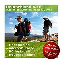 Deutschland V.18 - Profi Outdoor Topo Karte Kompatibel zu Garmin Dakota 20, eTrex 20, eTrex 20X, eTrex 25, eTrex 30, eTrex 30X, eTrex 35 & Touch