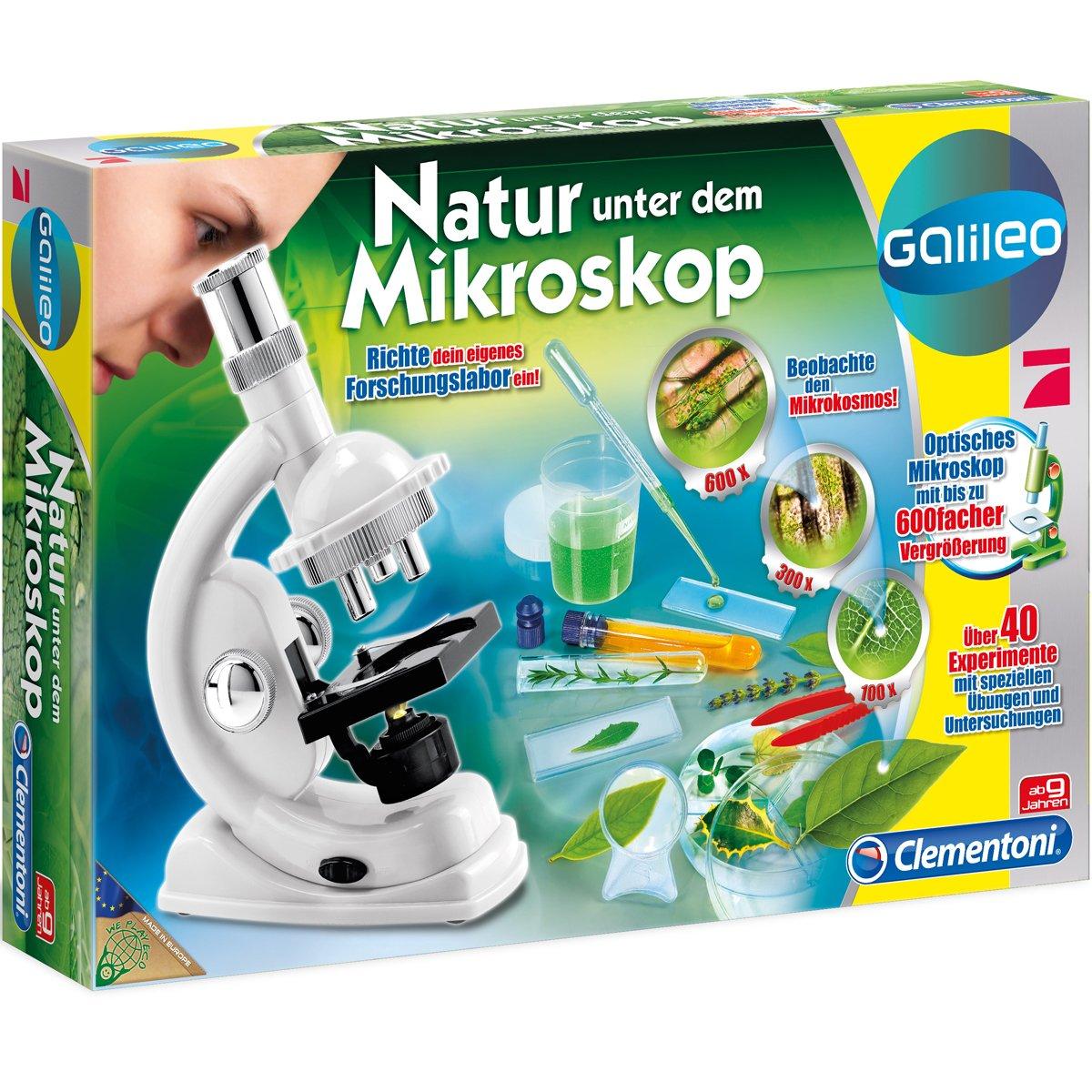 #0618 Galileo Natur unter dem Mikroskop mit 600 facher Vergrößerung für Kinder • Experimentier-Kasten Set H-Collection
