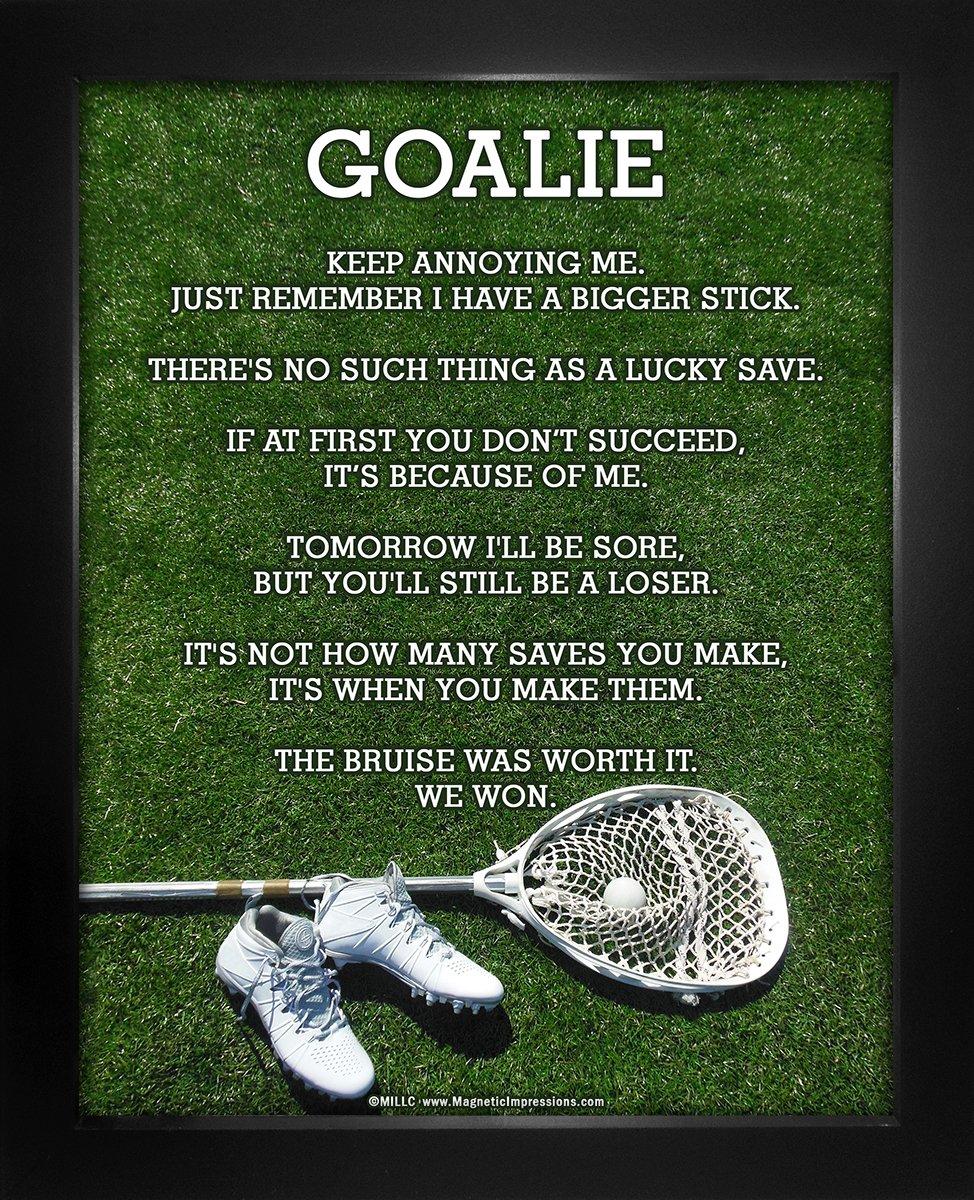 "Framed Lacrosse Goalie Cleats 8"" x 10"" Poster Print"