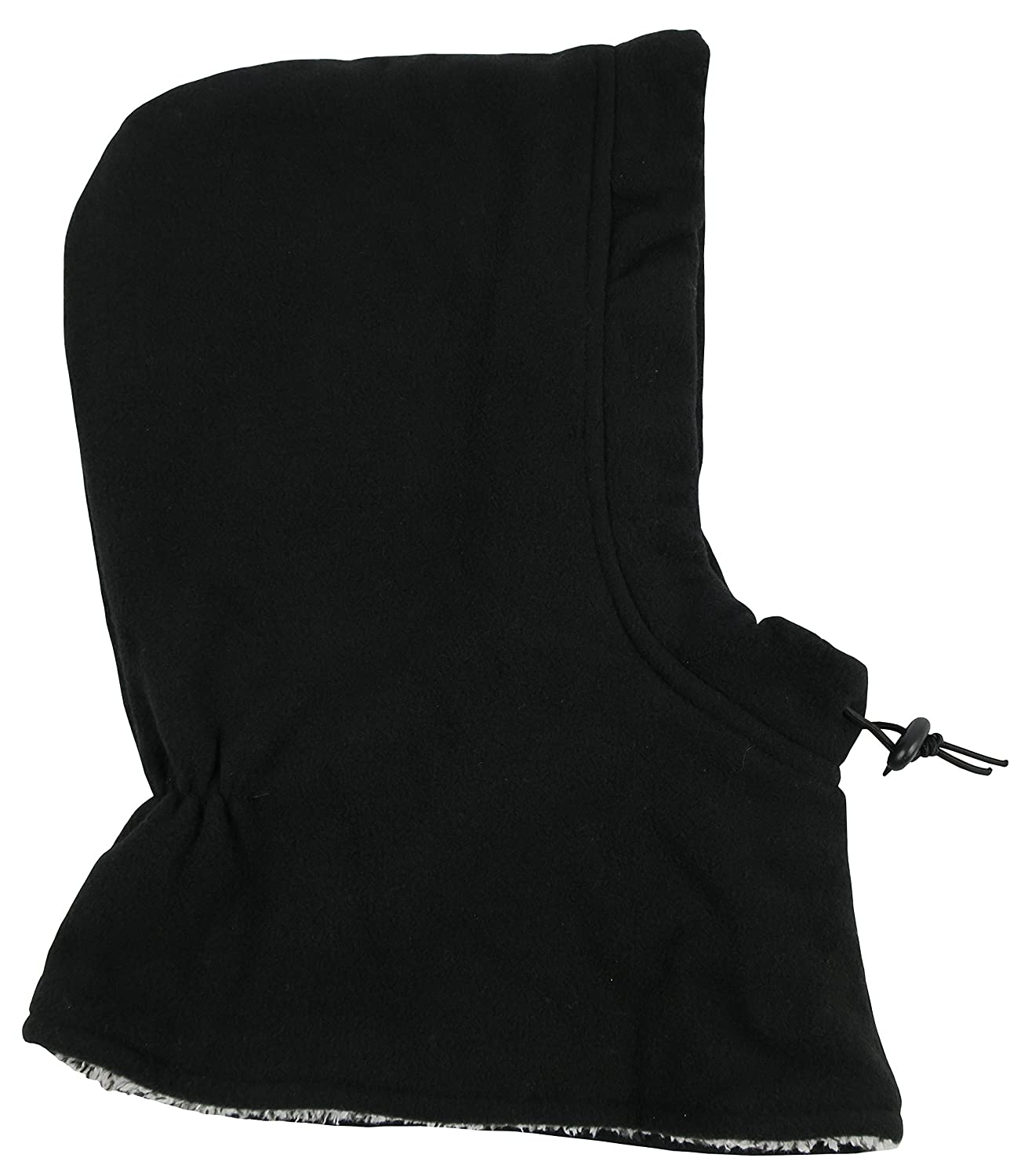 N'Ice Caps Kids Sherpa Lined Fleece Balaclava with Adjustable Draw Cord N'Ice Caps 611-BK-C