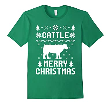 Amazoncom Cattle Ugly Christmas Sweater T Shirt For Cattle Lovers