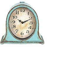 Creative Co-Op Metal Aqua Finish Mantel Clock
