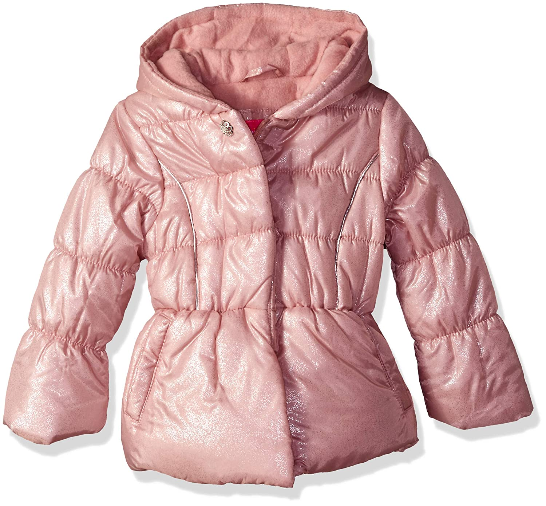 Pink Platinum Girls' Spray Foil Puffer,