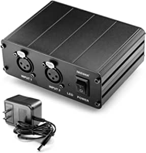 Citronic PP482 Dual Channel Phantom Power Supply For Condensor Microphones