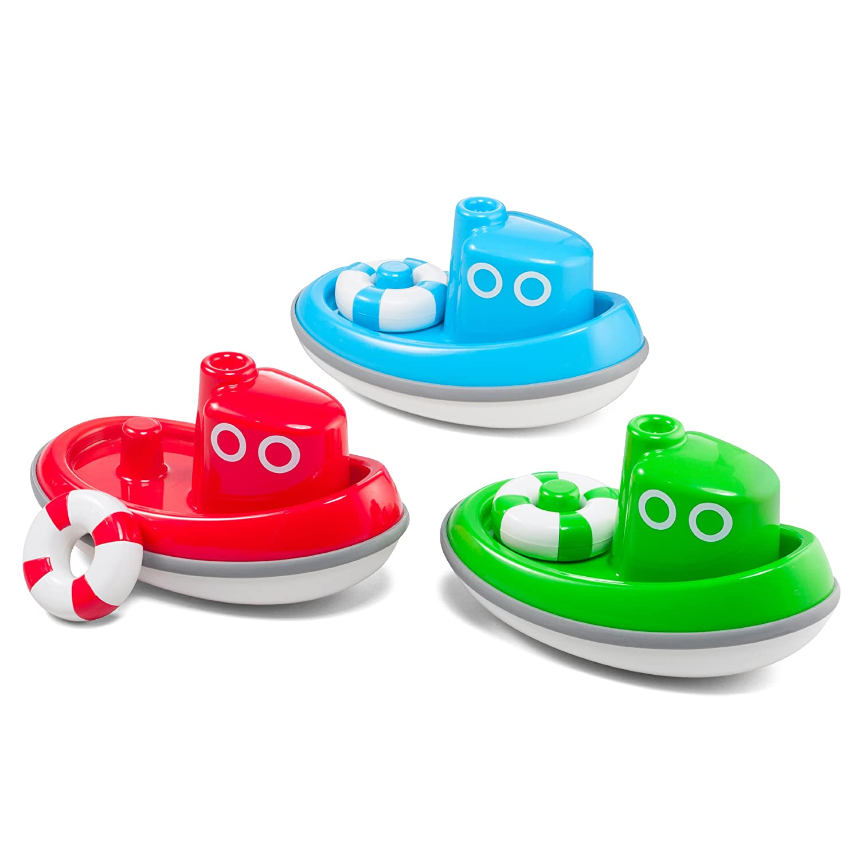 Red 10360K Kid O Floating Tug Boat Toddler Bath Toy
