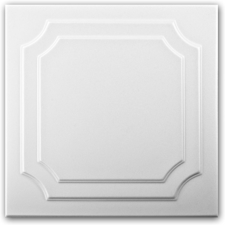 Blanco Azulejos de techo de espuma de poliestireno 0803 paquete de 88 pc // 22 metros cuadrados