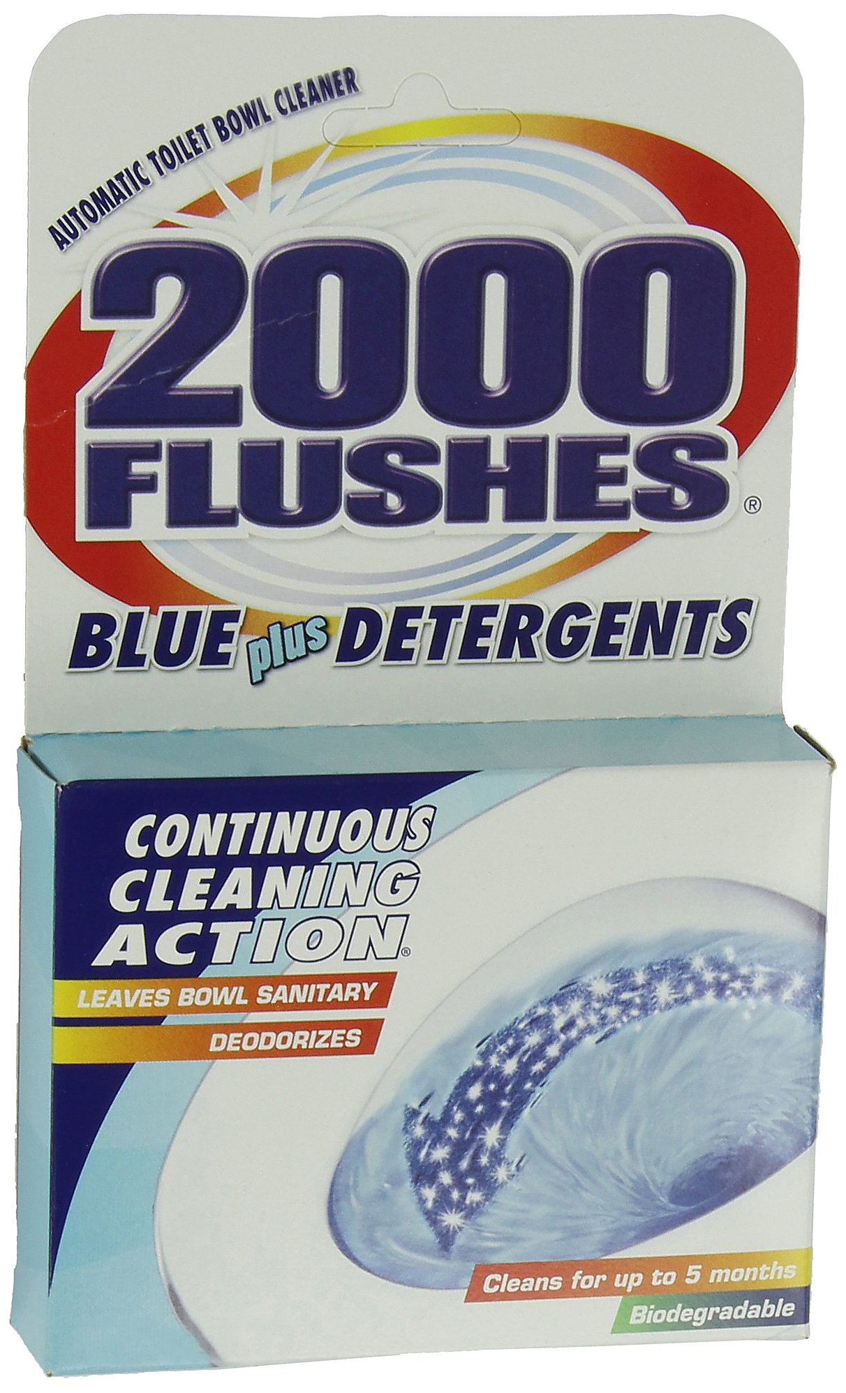 2000FlushesBluePlus Detergents Automatic Toilet Bowl Cleaner, 3.5 OZ [12-Pack] by 2000 FLUSHES