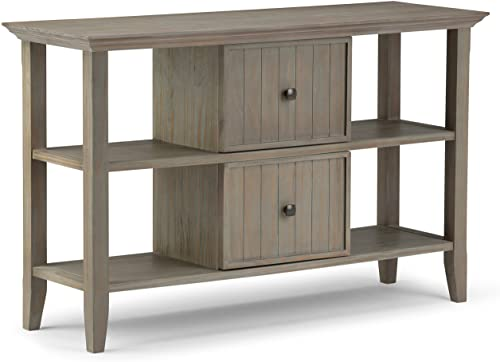 Ameriwood Home Owen Collection Retro TV Stand, Black Oak