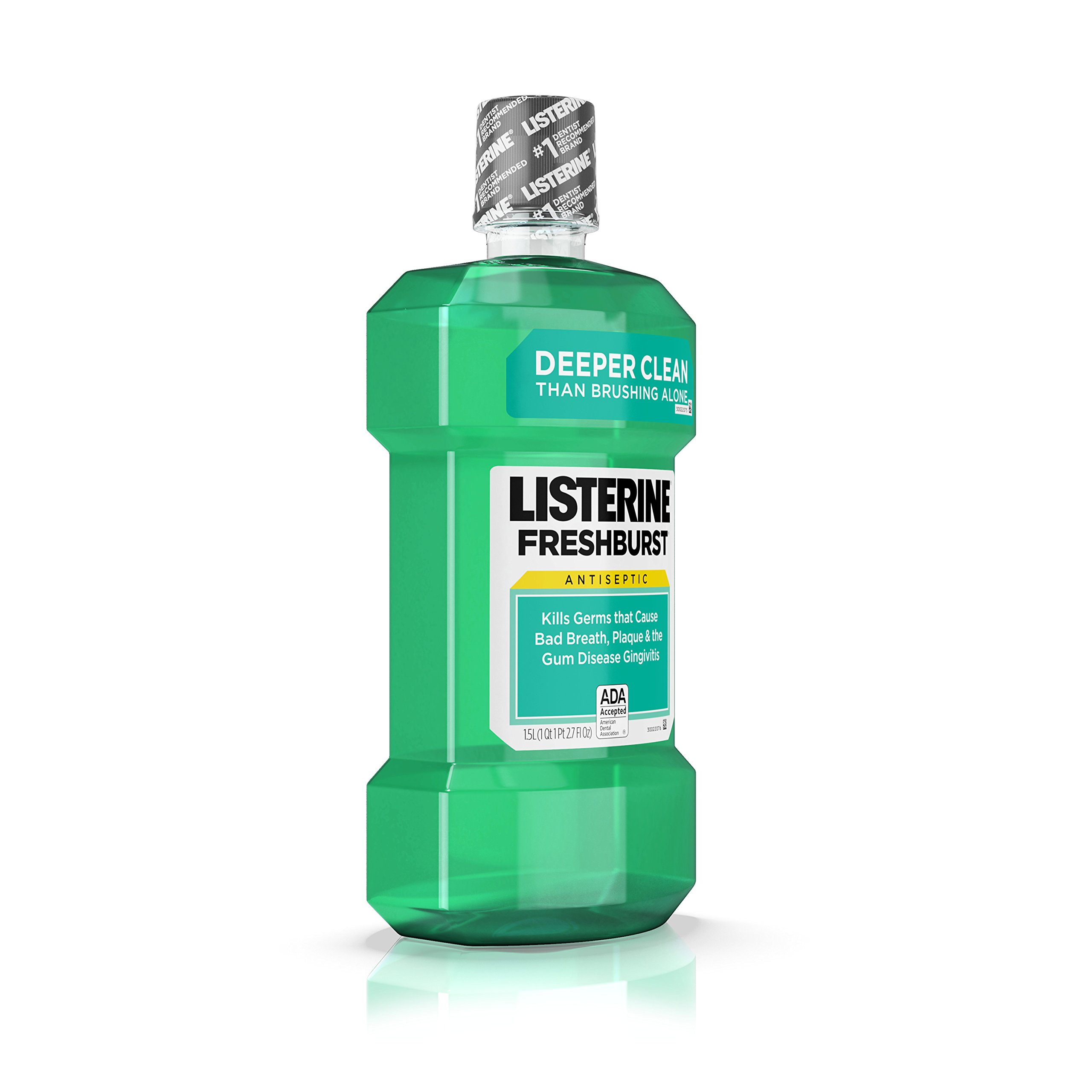 Listerine Freshburst Antiseptic Mouthwash For Bad Breath, 1.5 L, (Pack of 6) by Listerine (Image #4)