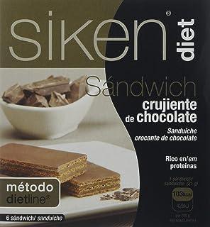 Siken Diet Sandwich Chocolate - 6 Unidades