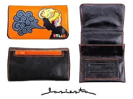 La Siesta - Petaca para tabaco de liar (compartimento doble), diseño de Bob Dylan