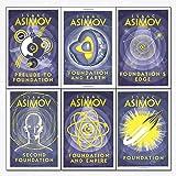 Isaac Asimov foundation series 6 books collection set - (foundation,foundation and empire,second foundation,prelude to founda