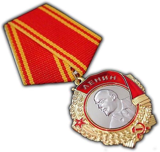 il pi/ù alto riconoscimento militare dellURSS per servizio esemplare Riproduzione dellantica medaglia dellOrdine di Lenin