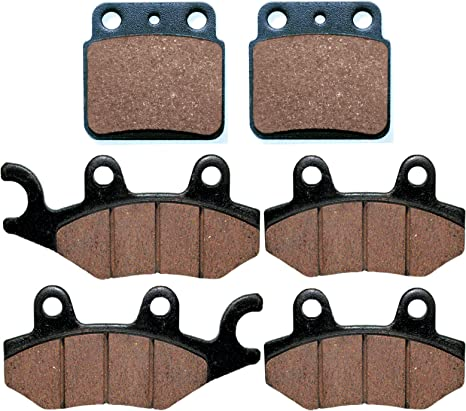 Front and Rear Brake Pads for SUZUKI LTR450 LT-R450 QuadRacer 2006-2010 2009