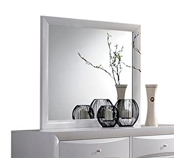 Prime Amazon Com Acme Furniture Ireland 21705 Mirror White Short Links Chair Design For Home Short Linksinfo