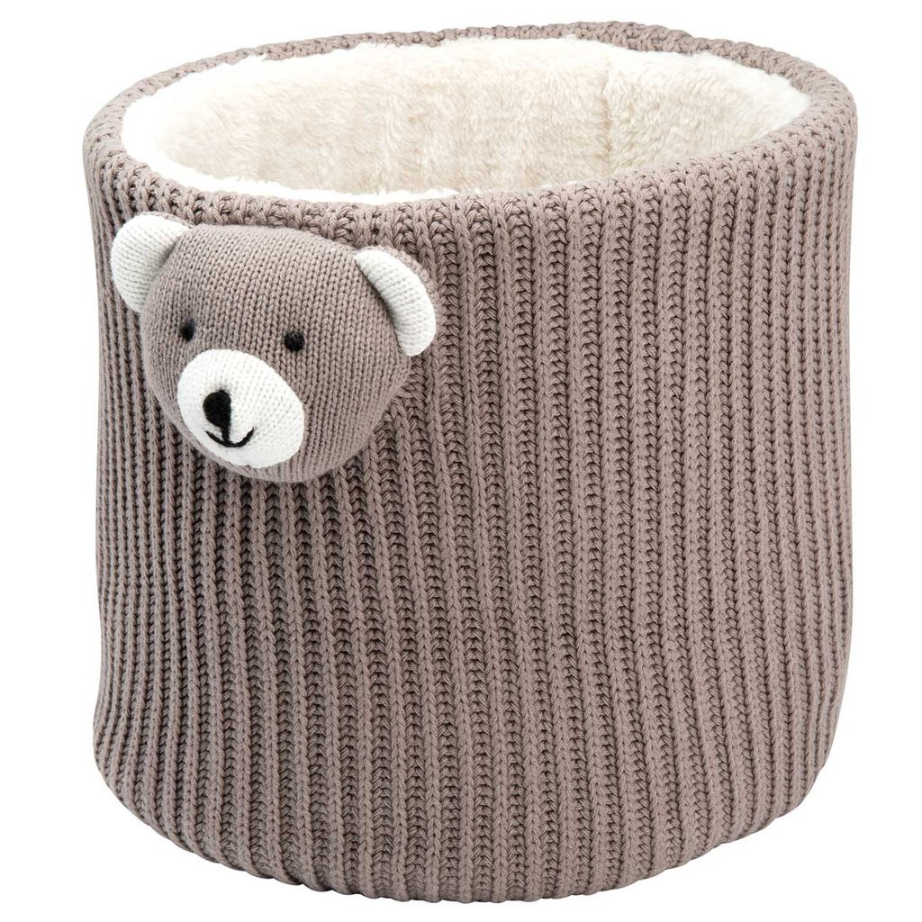 Elegant Baby Bear Crochet Storage