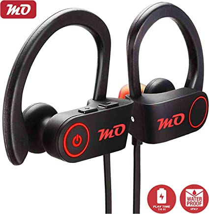 Amazon Com Mo Bluetooth Sports Headphones Best Wireless Earbuds W Mic Ipx7 Waterproof Hd Stereo Earphones For Gym Running Workout Up To 14 Hour Battery Noise Cancelling Headsets Home Audio Theater
