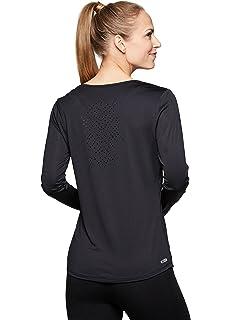 a8104bdf25df52 Amazon.com  icyzone Women s Workout Yoga Long Sleeve T-Shirts with ...