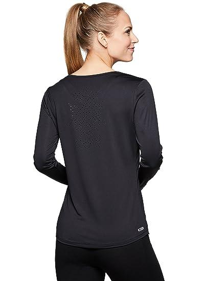 99b6c2b6 Amazon.com: RBX Active Women's Long Sleeve Ventilated Workout Tee ...
