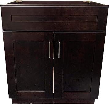New Espresso Shaker Single Bathroom Vanity Base Cabinet 24 W X 21 D X 34 5 H Amazon Com
