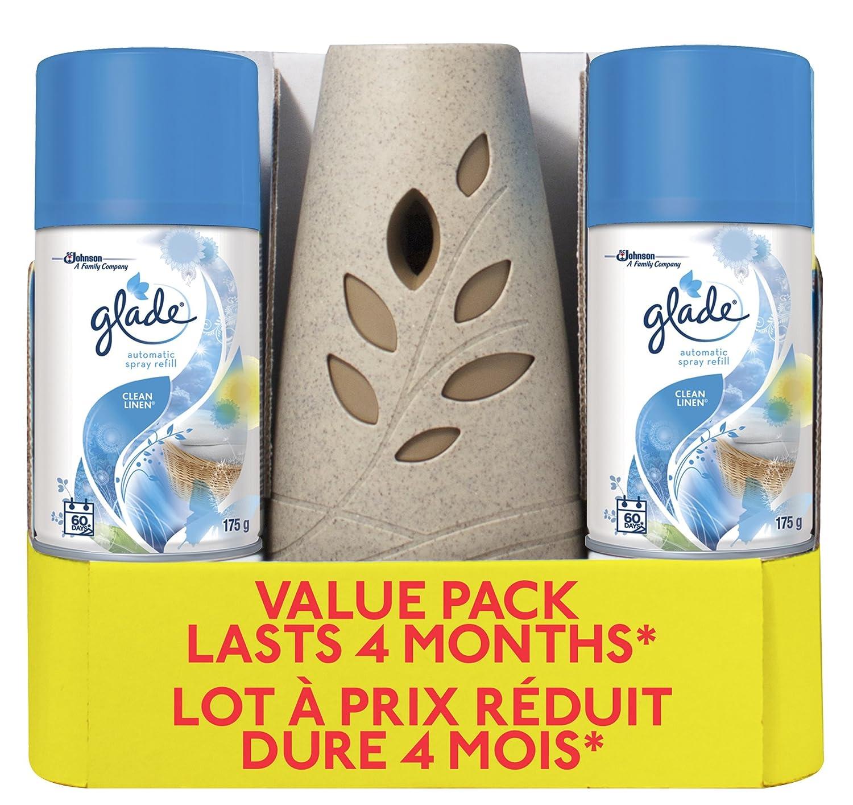 Glade Automatic Spray Value Pack - 1 Holder, 2 Clean Linen Refills SC Johnson 654417