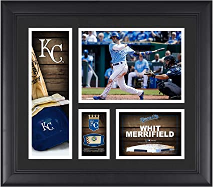 81c669c91a2 Image Unavailable. Image not available for. Color  Whit Merrifield Kansas  City Royals Framed 15 quot  x 17 quot  Player ...