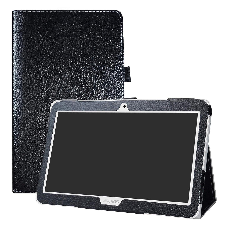 LFDZ Access 101 3G Custodia, Slim Ultra Pelle Sottile e Leggera Cover Case Custodia per 10.1' Archos Access 101 3G Tablet(Not Fit Access 101 WiFi),Nero