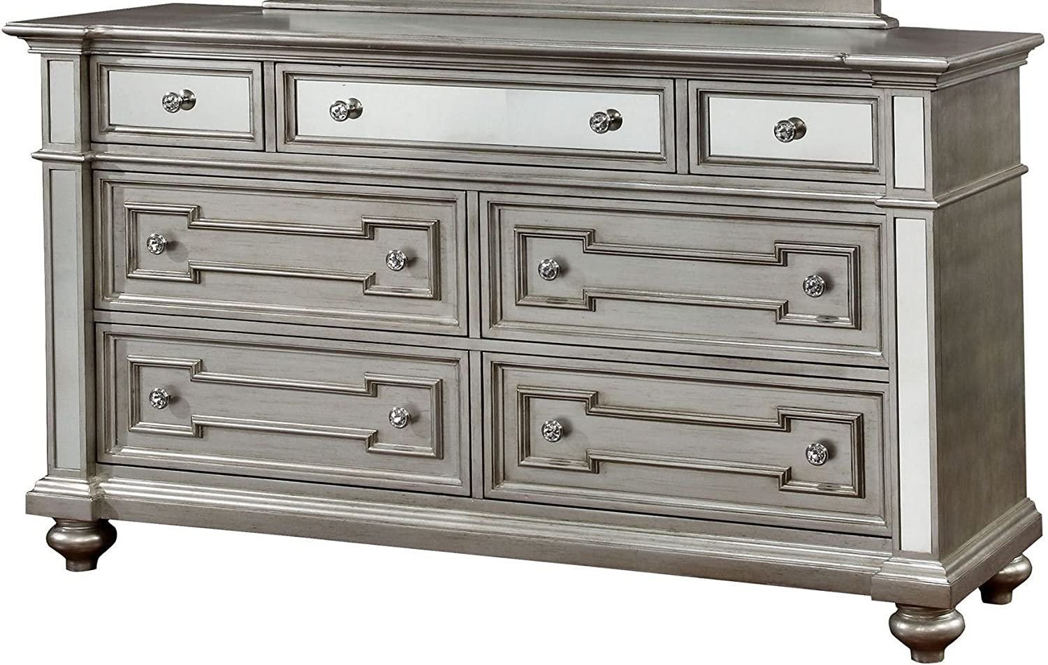 Amazon.com: Furniture of America Salamanca Silver Dresser ...