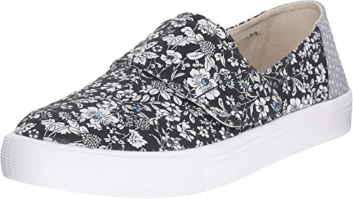 3b86ba619536b Toms Women's Altair Slip-on Navy Floral Sneaker 5 B(M) US: Buy ...